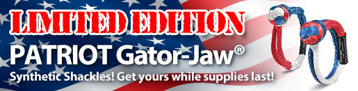 Limited Edition Patriot Gator-Jaw® Soft Shackles! Get yours while supplies last!