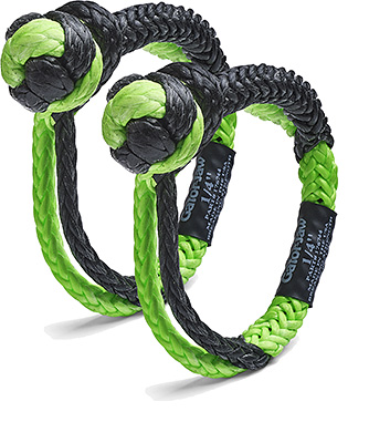 ATV Synthetic Shackle 11,000 lb Breaking Strength, Stronger than Steel!