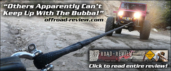 offroad-review.com Product Review - Bubba Rope® Military Spec 100% Nylon Tow Straps